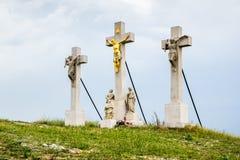 Jesus Christ Cross on Calvary. Nitra, Slovakia Stock Photography