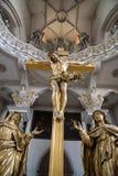 Jesus Christ. On cross in catholic church Stock Image