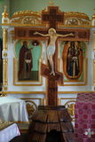 Jesus Christ on the cross from Orthodox church royalty free stock photography