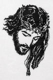 Jesus Christ cross stitch Royalty Free Stock Photography