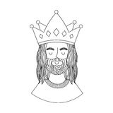 Jesus christ with crown character religious icon. Vector illustration design Stock Photos