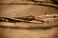 Jesus Christ crown of thorns Royalty Free Stock Photos
