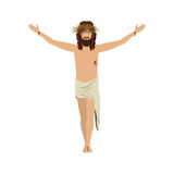 Jesus christ with crown of thorns. Illustration Stock Images