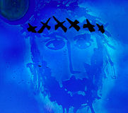 Jesus Christ with crown of thorns Stock Photography