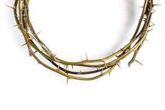 Jesus Christ Crown Thorns su fondo bianco isolato immagini stock libere da diritti