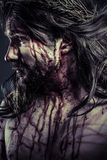 Jesus Christ with crown of thorns Royalty Free Stock Photos
