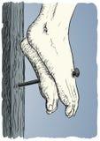 Jesus Christ crucificó ilustración del vector