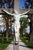 Jesus Christ crucified stock photo