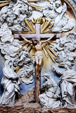 Jesus christ crucified, baroque, front view Stock Photo