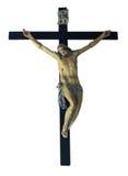Jesus Christ crucified. Catholic religion symbol. Isolated on white background royalty free stock image