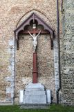 Jesus Christ crucified on the cross in Bruges, Belgium Royalty Free Stock Photo