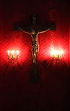 Jesus christ crucified, dramatic, high contrast Stock Photos