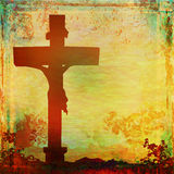 Jesus Christ crucified , grunge background Royalty Free Stock Images