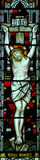 Jesus Christ crucified in stained glass Royalty Free Stock Images