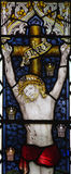 Jesus Christ crucified (stained glass) Royalty Free Stock Photo