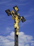 Jesus Christ on crucifix Stock Photo