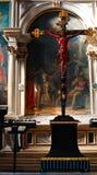 Jesus Christ on crucifix Stock Images