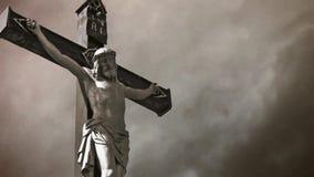 Jesus Christ Crucifixion. almacen de metraje de vídeo