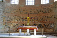 Jesus Christ Crucifixion church altar  Royalty Free Stock Image
