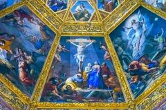 Jesus Christ Crucifixion Painting San Lorenzo Medici Church Florence Italy imagens de stock