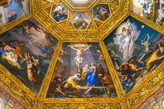 Jesus Christ Crucifixion Painting San Lorenzo Medici Church Florence Italy fotografia de stock