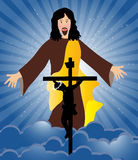 Jesus Christ crucifixion and resurrection Royalty Free Stock Photo