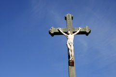 Jesus Christ crucifixion sculpture Royalty Free Stock Images