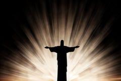 Jesus Christ dans le rayonnement illustration stock