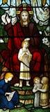 Jesus Christ, der ein Kind segnet Lizenzfreies Stockfoto