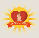 Jesus christ design. Illustration eps10 graphic Royalty Free Stock Photography