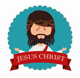 Jesus christ design. Illustration eps10 graphic Royalty Free Stock Photos