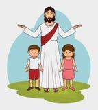 Jesus christ design. Illustration eps10 graphic Stock Image