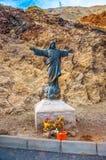 Jesus Christ die Reedemer-Statue in Teneriffa, Kanarische Inseln stockfotos