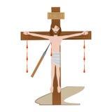 Jesus christ dies cross - via crucis Royalty Free Stock Photos