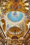 Jesus Christ e apóstolos no interior da catedral ortodoxo naval da São Nicolau fotografia de stock royalty free