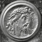 Jesus Christ em uma coroa de espinhos fotografia de stock