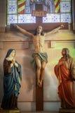Jesus Christ em uma igreja fotos de stock royalty free