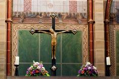 Jesus Christ en cruz Foto de archivo libre de regalías