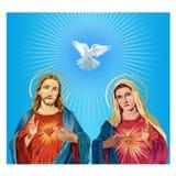 Jesus Christ en Maagdelijke Mary stock illustratie