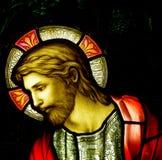 Jesus Christ en vitral stock de ilustración