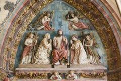 Jesus Christ - estátua na catedral de Burgos fotografia de stock royalty free