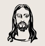 Jesus Christ Face , art vector design Royalty Free Stock Image