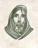 Jesus Christ face Stock Image