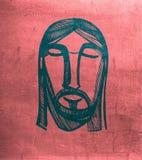 Jesus Christ face Royalty Free Stock Image