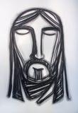 Jesus Christ Face-Holzkohlenillustration Stockbilder