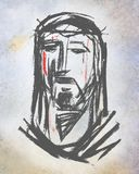 Jesus Christ Face Illustration Stockfotografie
