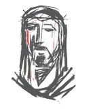 Jesus Christ Face Illustration Lizenzfreies Stockfoto