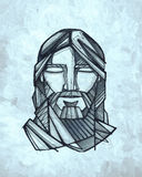 Jesus Christ Face Illustration Royalty Free Stock Image
