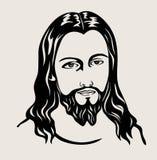 Jesus Christ Face Sketch, diseño del vector del arte Foto de archivo libre de regalías