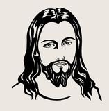 Jesus Christ Face Sketch Drawing  , art vector design Royalty Free Stock Photography